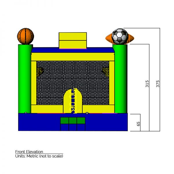 Sports Bounce House dimensions.