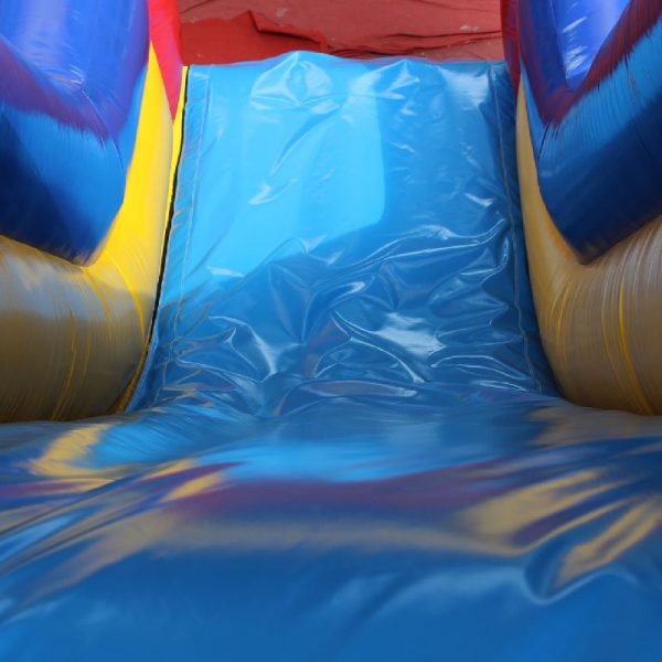Inflatable slide view from the top of slide.