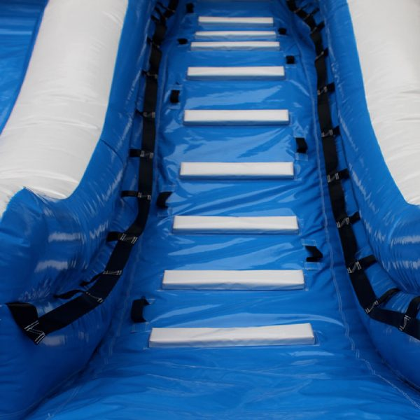 Climbing wall of an Inflatable water slide.