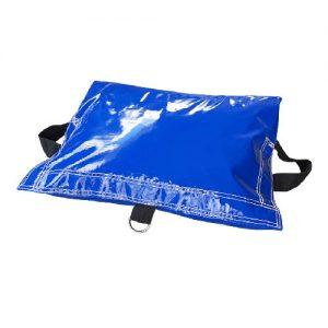 blue sandbag cover